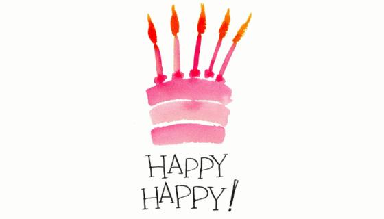 Verjaardagstaart happy happy