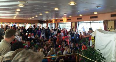 Pipo Pe op de Sinterklaasboot