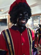 Zwarte Piet tijdens Sinterklaasintocht op de Moesel in Remich, Luxemburg 2015