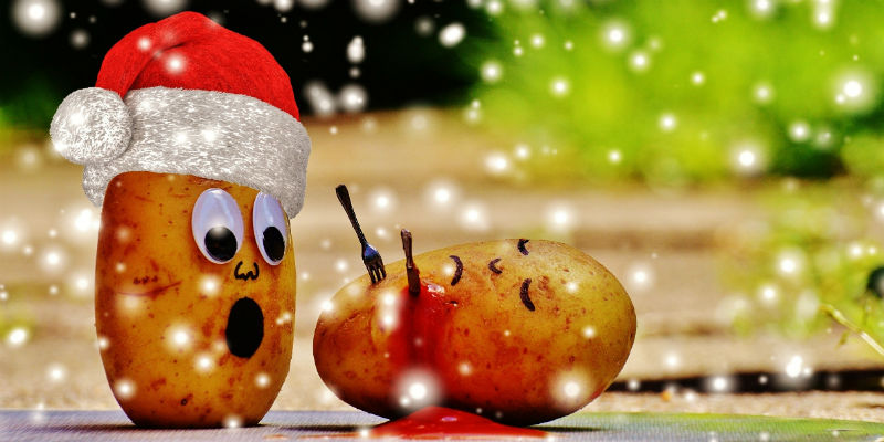 Aardappel Kerstfeest