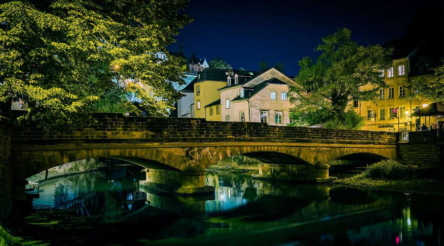 Bridge in Grund, Luxembourg City