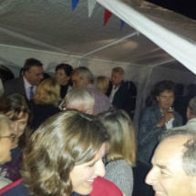 Haringborrel 2017 mensen in een tent